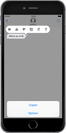 Apple Apple iPhone 6s Plus iOS 10 - iOS features - Fonctions iMessage - Étape 6