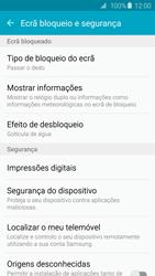 Samsung Galaxy S6 - Segurança - Como ativar o código de bloqueio do ecrã -  5