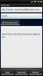 Sony Ericsson Xperia Arc - Email - Sending an email message - Step 7