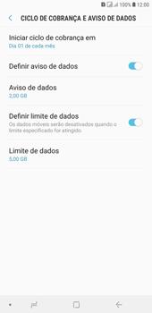 Samsung J4+ - Rede móvel - Como definir um aviso e limite de uso de dados - Etapa 15
