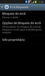 Samsung Galaxy Fresh Duos - Segurança - Como ativar o código de bloqueio do ecrã -  5