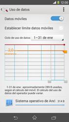Sony Xperia M2 - Internet - Ver uso de datos - Paso 5