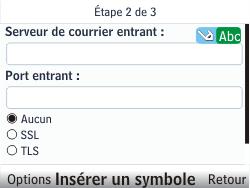 Nokia C3-00 - E-mail - Configuration manuelle - Étape 8