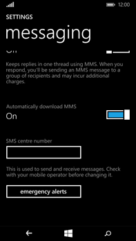 Microsoft Lumia 640 XL - SMS - Manual configuration - Step 6