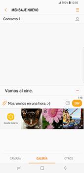 Samsung Galaxy S8 Plus - Mensajería - Escribir y enviar un mensaje multimedia - Paso 13