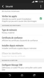 HTC Desire 820 - Sécuriser votre mobile - Personnaliser le code PIN de votre carte SIM - Étape 5