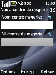 Nokia 2730 classic - SMS - configuration manuelle - Étape 8
