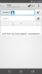 Sony E2003 Xperia E4 G - Email - Sending an email message - Step 8