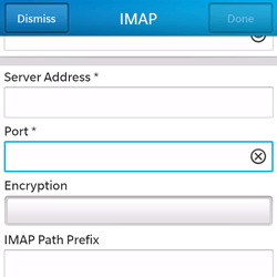 BlackBerry Q5 - Email - Manual configuration - Step 11