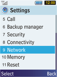 Samsung C3350 Xcover 2 - Network - Usage across the border - Step 4