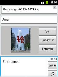 Samsung Galaxy Y - Mensagens - Como criar e enviar mensagens multimídia (MMS) - Etapa 15