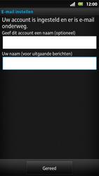 Sony MT27i Xperia Sola - E-mail - Handmatig instellen - Stap 16