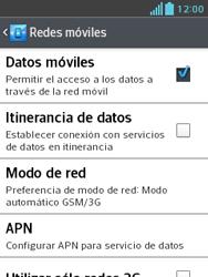 LG Optimus L3 II - Mensajería - Configurar el equipo para mensajes multimedia - Paso 6