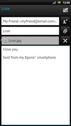 Sony LT22i Xperia P - E-mail - Sending emails - Step 12