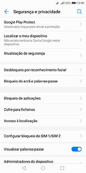 Huawei Y6 (2018) - Segurança - Como ativar o código PIN do cartão de telemóvel -  5