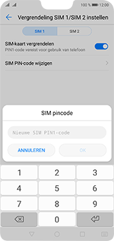 Huawei P20 Lite Dual-SIM (Model ANE-LX1) - Beveiliging en ouderlijk toezicht - Hoe wijzig ik mijn SIM PIN-code - Stap 10