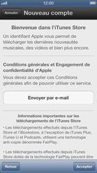 Apple iPhone 5 - Applications - Créer un compte - Étape 6