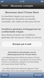 Apple iPhone 5 - Applications - Créer un compte - Étape 6