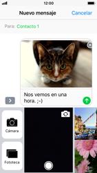 Apple iPhone SE iOS 11 - Mensajería - Escribir y enviar un mensaje multimedia - Paso 14