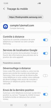 Samsung Galaxy S10 Plus - Appareil - configurer Localiser mon appareil - Étape 9