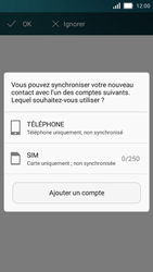 Huawei Y5 - Contact, Appels, SMS/MMS - Ajouter un contact - Étape 4