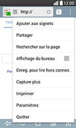 LG H220 Joy - Internet - Navigation sur internet - Étape 16