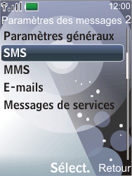 Nokia 7210 supernova - SMS - Configuration manuelle - Étape 5