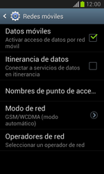 Samsung i8260 Galaxy Core - Red - Seleccionar el tipo de red - Paso 6