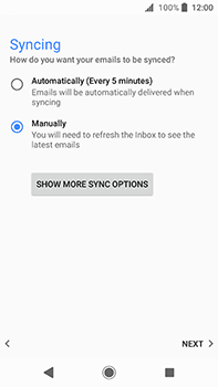 Sony Xperia XA2 Ultra - E-mail - Manual configuration POP3 with SMTP verification - Step 21