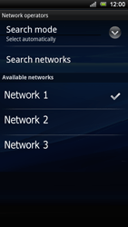 Sony Ericsson Xperia Ray - Network - Usage across the border - Step 8