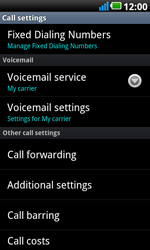 LG P990 Optimus 2X Speed - Voicemail - Manual configuration - Step 5