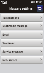 LG GD900 Crystal - Voicemail - Manual configuration - Step 4