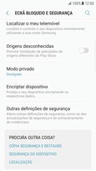 Samsung Galaxy S6 Edge - Android Nougat - Segurança - Como ativar o código PIN do cartão de telemóvel -  5