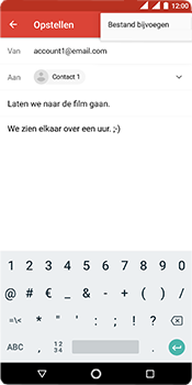 Nokia 5.1 - E-mail - e-mail versturen - Stap 9