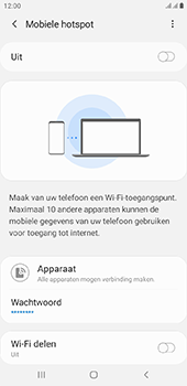 Samsung galaxy-j4-plus-dual-sim-sm-j415fn-android-pie - WiFi - Mobiele hotspot instellen - Stap 11