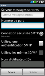 LG P990 Optimus 2X Speed - E-mail - Configuration manuelle - Étape 9