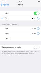 Apple iPhone 6 iOS 10 - WiFi - Conectarse a una red WiFi - Paso 7