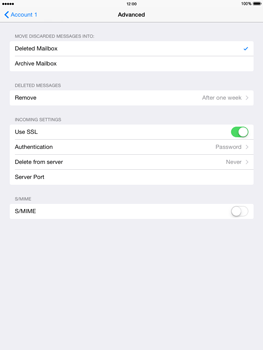 Apple The New iPad iOS 8 - E-mail - Manual configuration - Step 21