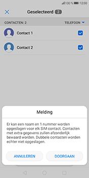 Huawei P Smart (Model FIG-LX1) - Contacten en data - Contacten kopiëren van toestel naar SIM - Stap 8