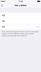 Apple iPhone SE iOS 10 - Red - Seleccionar el tipo de red - Paso 7