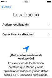 Apple iPhone 4S iOS 7 - Primeros pasos - Activar el equipo - Paso 7