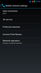 Wiko Stairway - Network - Usage across the border - Step 6