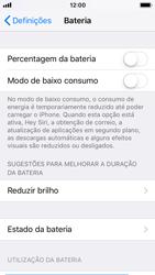 Apple iPhone SE - iOS 11 - Bateria - Como desativar a gestão de desempenho -  4