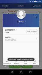 Huawei Y6 - Chamadas - Como bloquear chamadas de um número específico - Etapa 7