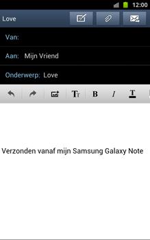 Samsung N7000 Galaxy Note - OS 4 ICS - E-mail - hoe te versturen - Stap 10