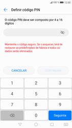 Huawei P9 Lite - Android Nougat - Segurança - Como ativar o código de bloqueio do ecrã -  6