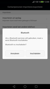 Huawei Mate S (Model CRR-L09) - Contacten en data - Contacten overzetten via Bluetooth - Stap 9