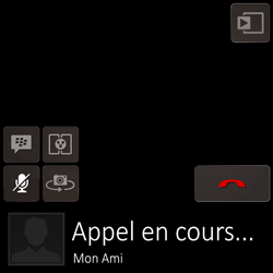 BlackBerry Q10 - Contact, Appels, SMS/MMS - Utiliser la visio - Étape 7