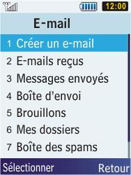 Samsung S5610 Primo - E-mail - envoyer un e-mail - Étape 3