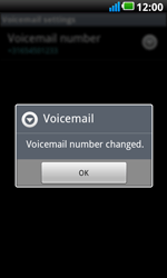 LG P990 Optimus 2X Speed - Voicemail - Manual configuration - Step 8